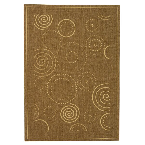 Mullen Circles Outdoor Power Loomed Rug by Ebern Designs