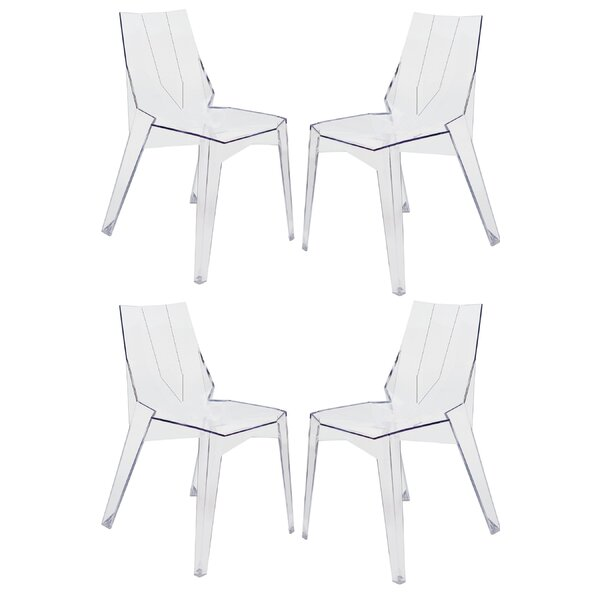Lucy Stacking Patio Dining Chair (Set of 4) by Everly Quinn Everly Quinn