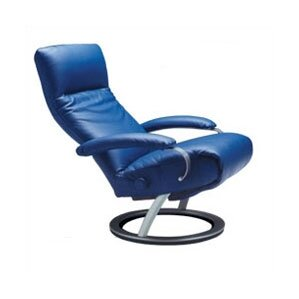Kiri Leather Manual Swivel Recliner by Lafer