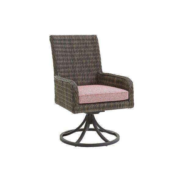Cypress Point Ocean Terrace Rocker Swivel Patio Dining Chair with Cushion