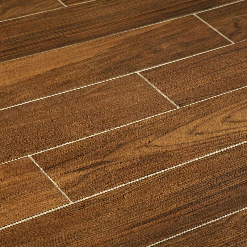 Manor 6 X 36 Porcelain Wood Look Tile In Gunstock Wayfair