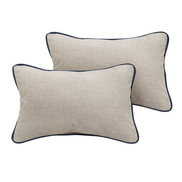Palm City Sunbrella Cast Outdoor Lumbar Pillow (Set of 2) by Rosecliff Heights