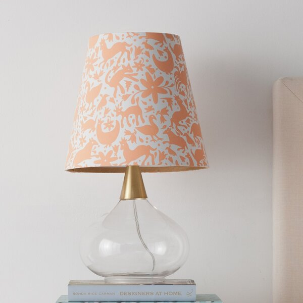 Teardrop Glass 19.25 Table Lamp by Cupcakes and Cashmere