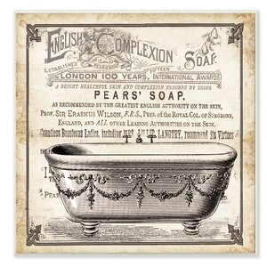'Old English Tub Pears' Soap' Graphic Art on Canvas by Stupell Industries