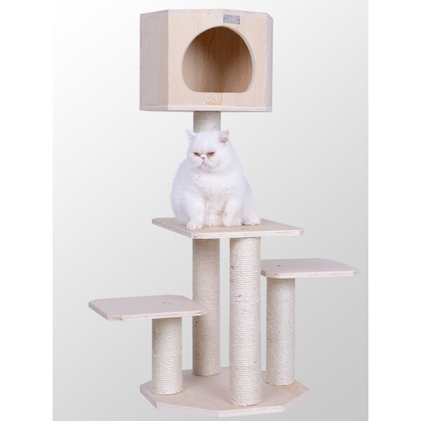 46 Premium Scotch Pine Solid Wood Cat Tree by Arma