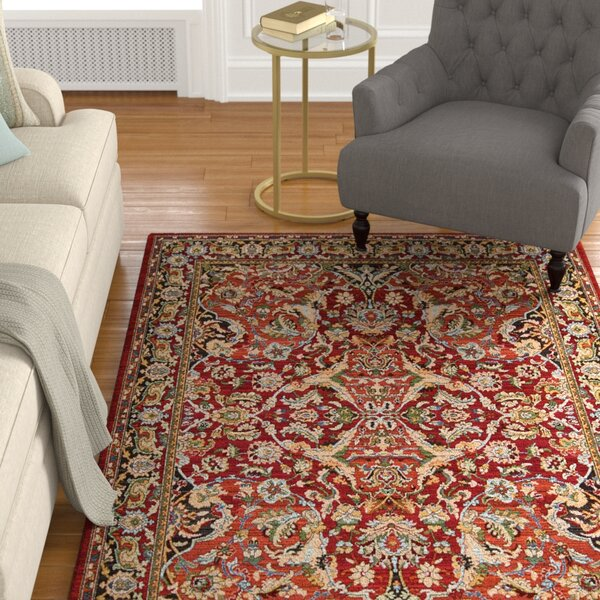 Charleson Red Area Rug by Astoria Grand
