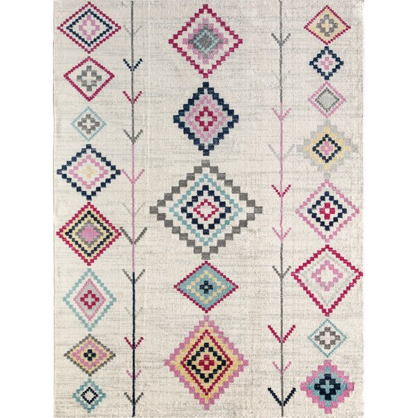 Moroccan Nasiba Tribal Ivory Area Rug by CosmoLiving
