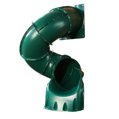 Turbo Tube Slide for 5' Deck Swing-n-Slide Color: Green