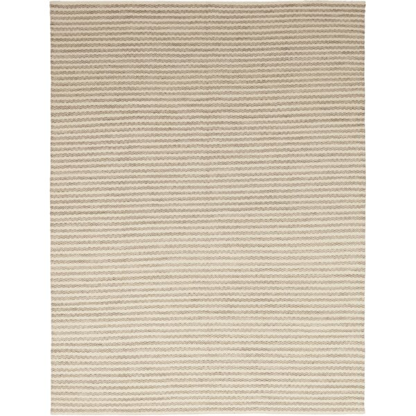 One-of-a-Kind Emrick Hand-Knotted Wool Beige Indoor Area Rug by Rosecliff Heights