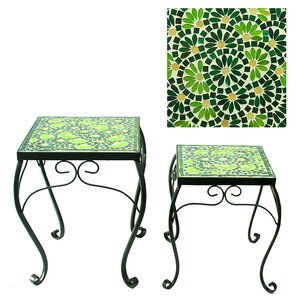 Besancon Mosaic Planter 2 Piece Nesting Tables by August Grove