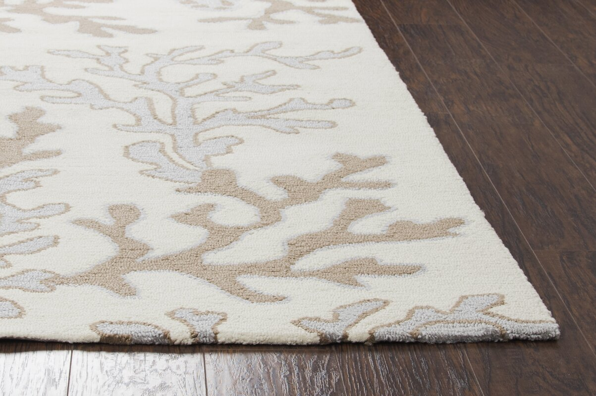 Beachcrest Home Maryland Hand Tufted Off White Tan Indoor