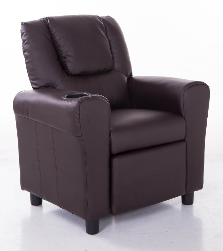 Mochi Furniture PU Leather Comfortable Kids Recliner with ...