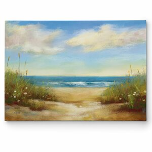 'Serenity I' by Karen Margulis Painting Print on Wrapped Canvas by Wexford Home