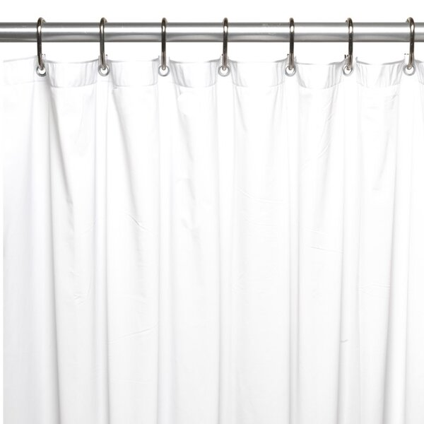 Vinyl 5 Gauge Shower Curtain Liner by Symple Stuff