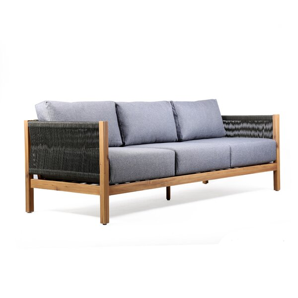 Theodosia Patio Sofa with Cushions by Rosecliff Heights