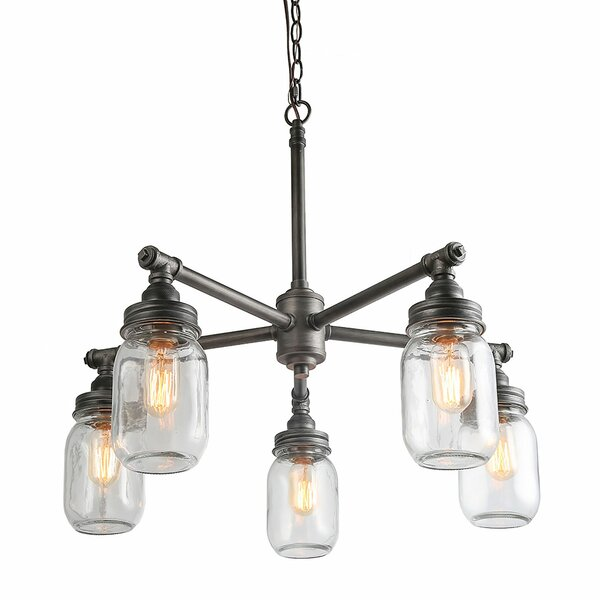 Walhame 5 - Light Shaded Drum Chandelier By Gracie Oaks
