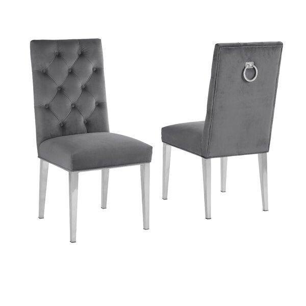 Carnahan Tufted Velvet Upholstered Side Chair (Set Of 2) By Everly Quinn
