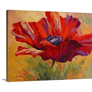 Poppy II by Marion Rose Painting Print on Wrapped Canvas by Great Big Canvas