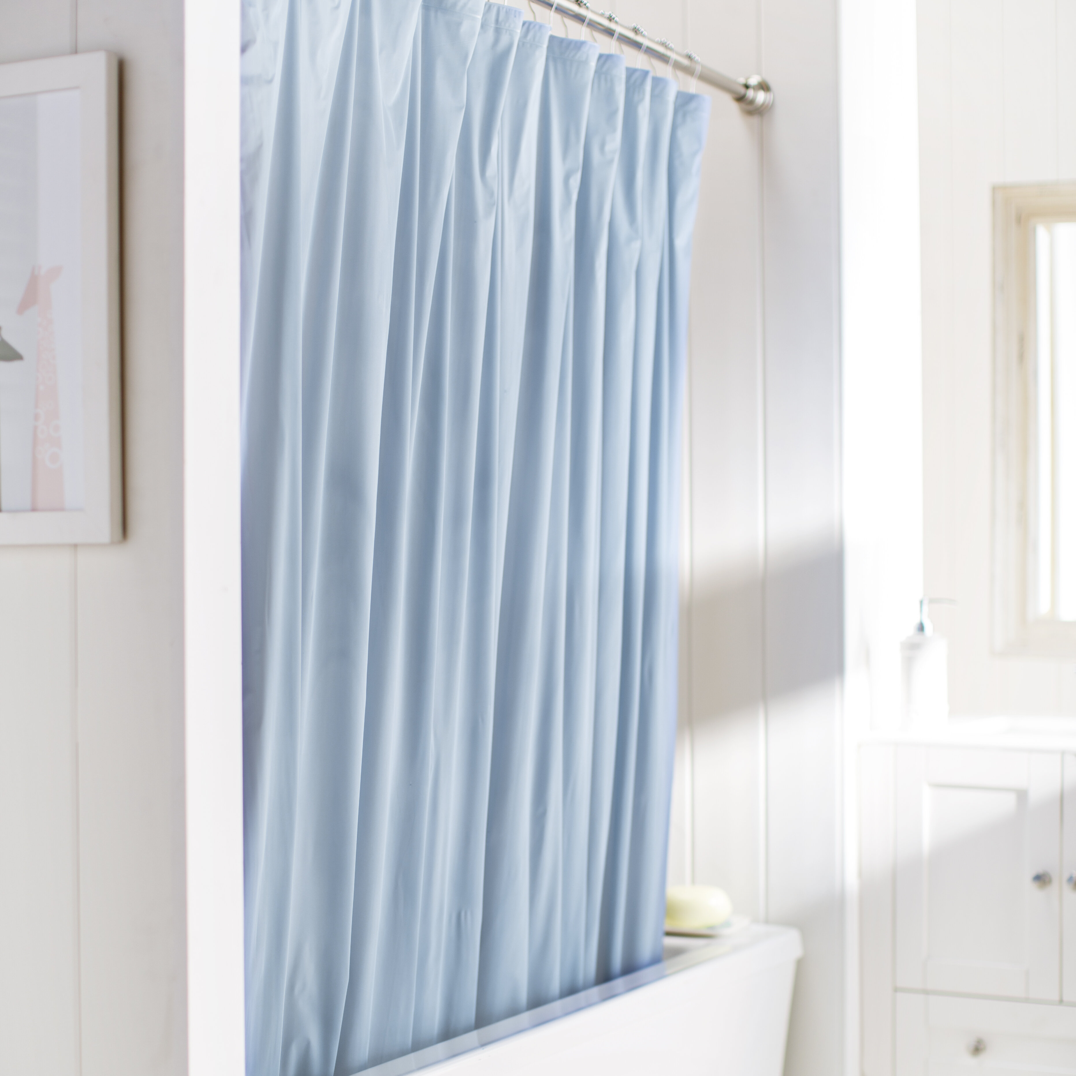 Wayfair Basics™ Wayfair Basics Vinyl Shower Curtain Liner & Reviews ...