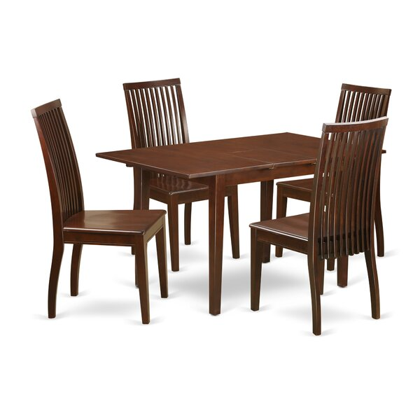 Katie 5 Piece Solid Wood Dining Set by Alcott Hill