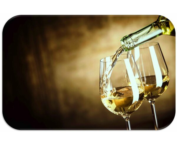 Wine Print Slip-Resistant Foam 19 Placemat (Set of 8) by Dainty Home
