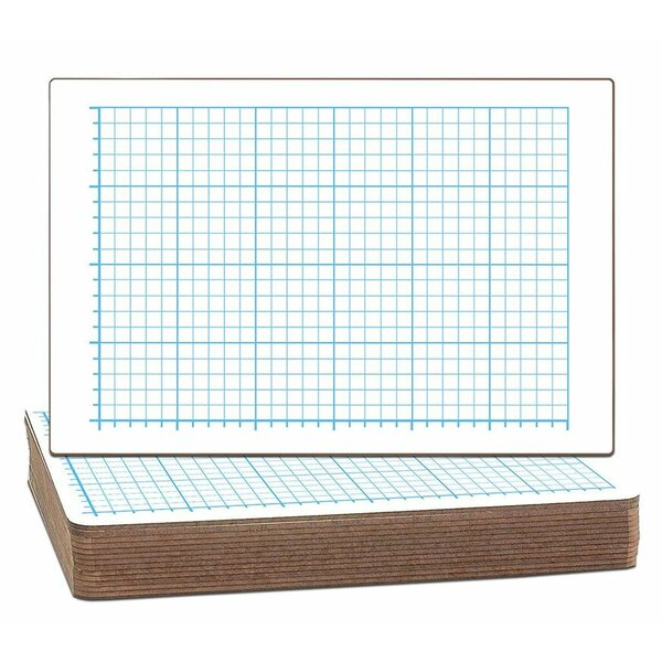 Two-Sided Quadrant Grid Dry Erase Whiteboard (Set of 12) by Flipside Products