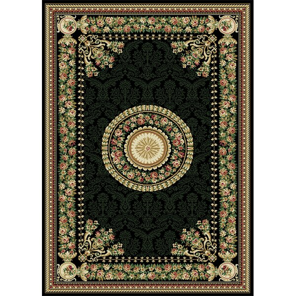 Bertie Black Area Rug by August Grove