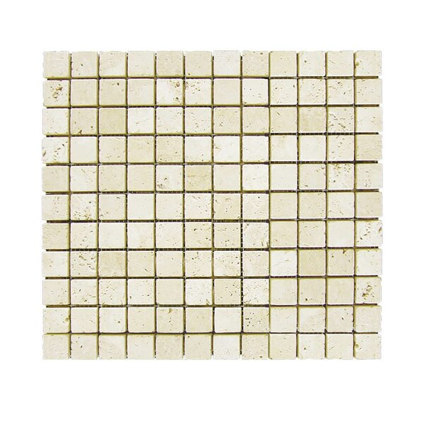 Tumbled 1 x 1 Natural Stone Mosaic Tile in Nysa by QDI Surfaces