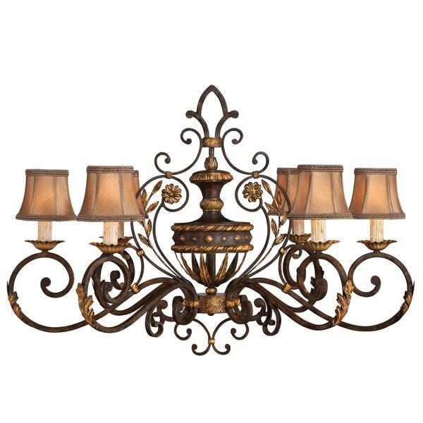 Castile 6 - Light Shaded Empire Chandelier By Fine Art Lamps