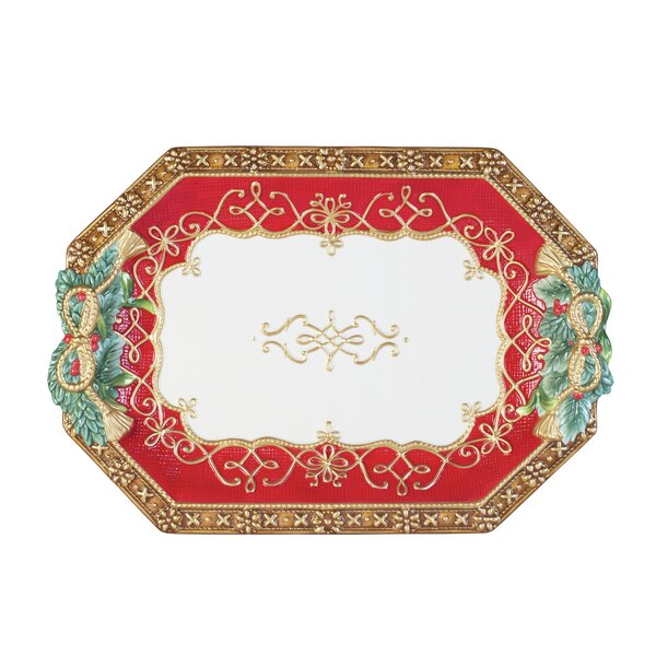 Yuletide Holiday Serving Platter by Fitz and Floyd