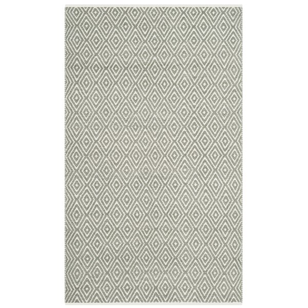 Scheid Hand-Tufted Gray Area Rug by Wrought Studio
