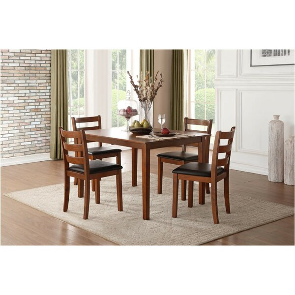 Gael Transitional Dinette 5 Piece Solid Wood Dining Set by Millwood Pines