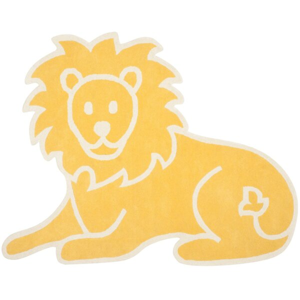 Lion Hand-Loomed Egg Yolk Area Rug by Martha Stewart Rugs