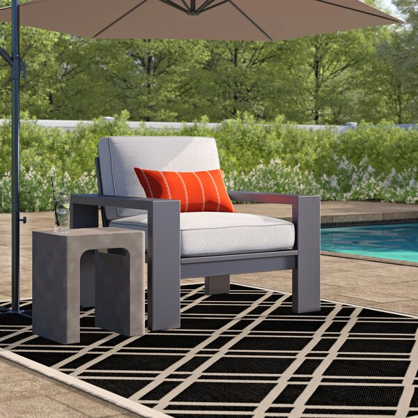 Sagers Contemporary Patio Chair with Cushions (Set of 2) by Brayden Studio