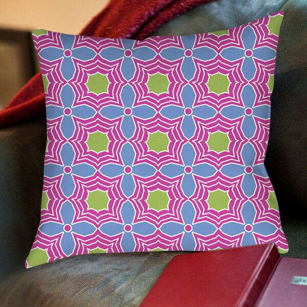 Amina Star Printed Throw Pillow by Manual Woodworkers & Weavers
