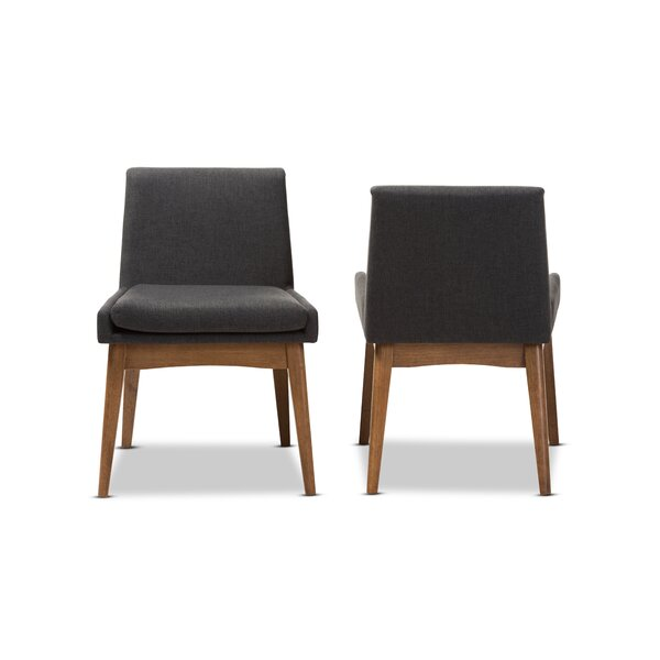 Stallman Mid-Century Modern Upholstered Dining Chair (Set of 2) by Brayden Studio