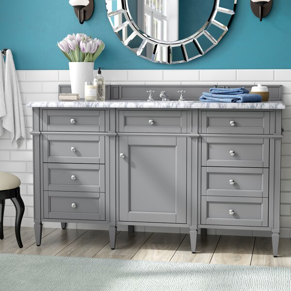 Deleon Traditional 60 Single Urban Gray Bathroom Vanity Set by Darby Home Co
