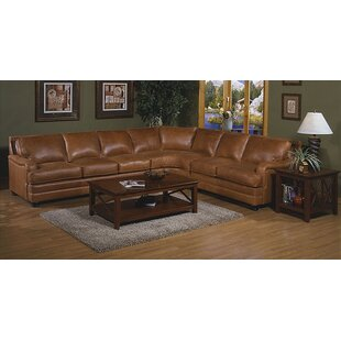 Pantera Leather Reversible Sectional By Omnia