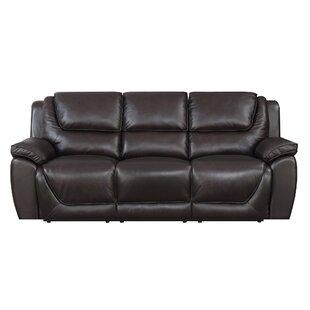 Rish Leather Reclining Sofa Latitude Run