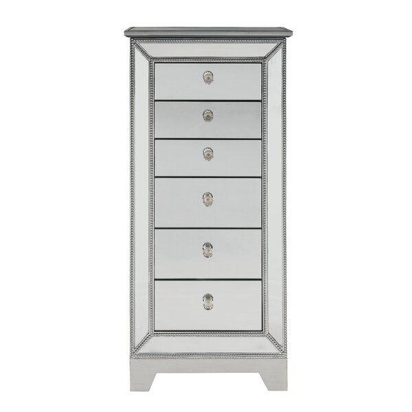 Mariaella Free Standing Jewelry Armoire with Mirror by Rosdorf Park