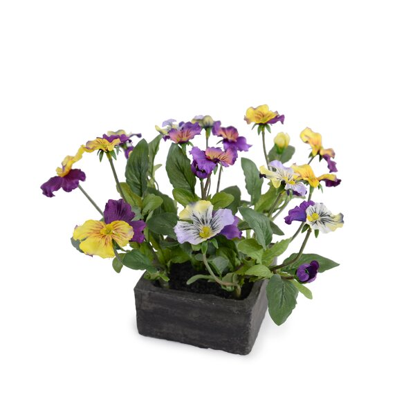 Faux Mini Pansies by New Growth Designs