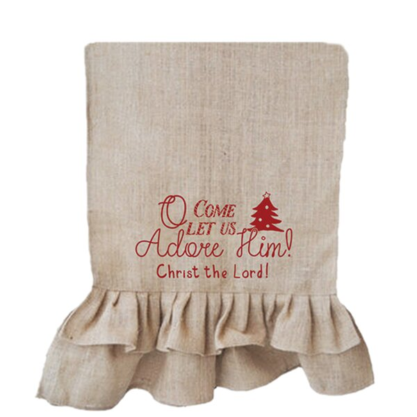 Merry & Bright O Come Let Us Adore Table Runner by Carpentree