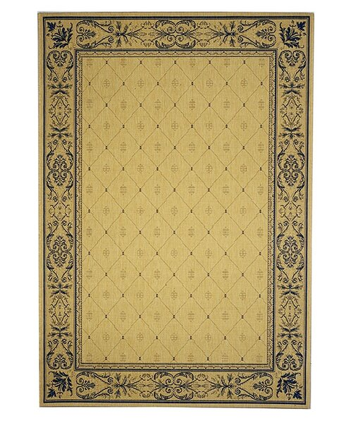Short Natural / Blue Transitional Outdoor Area Rug by Winston Porter