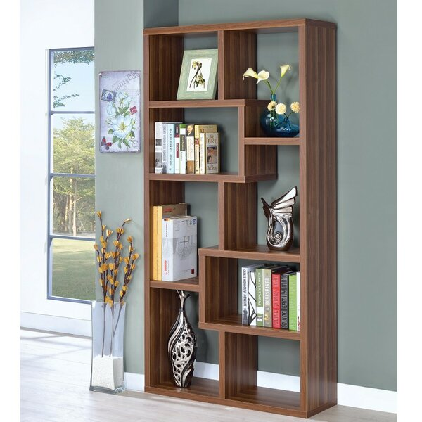 Delong Geometric Bookcase By Wrought Studio