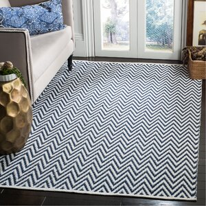 Whitton Hand-Woven Navy/Ivory Area Rug