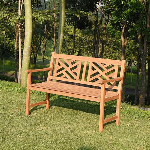 Charity Teak Garden Bench by Charlton Home
