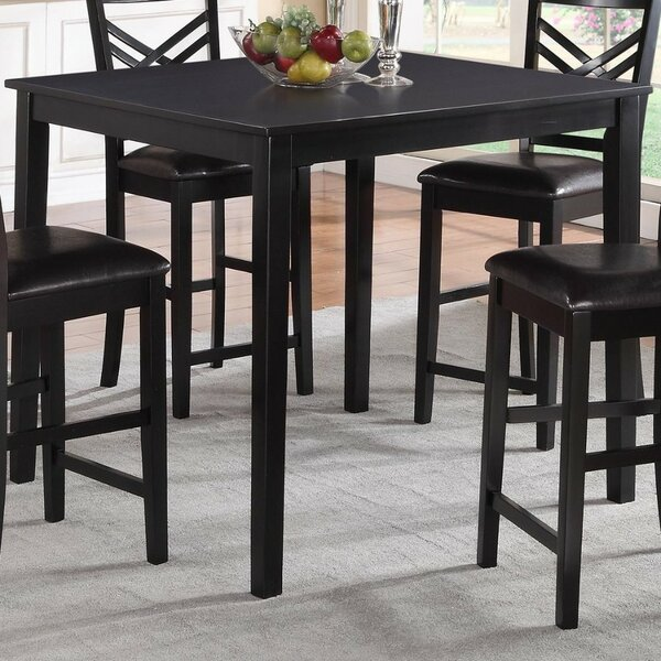 Parmelee Wooden Counter Height Dining Table by Winston Porter