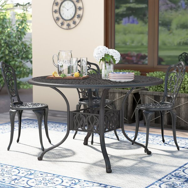 Maryann Metal Dining Table By Fleur De Lis Living