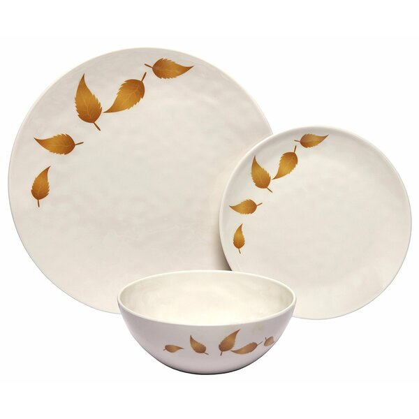 Rohan Leaves 36 Piece Dinnerware Set, Service for 12 (Set of 12) by Darby Home Co
