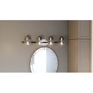 Compare prices Dickert 4-Light Vanity Light By Breakwater Bay